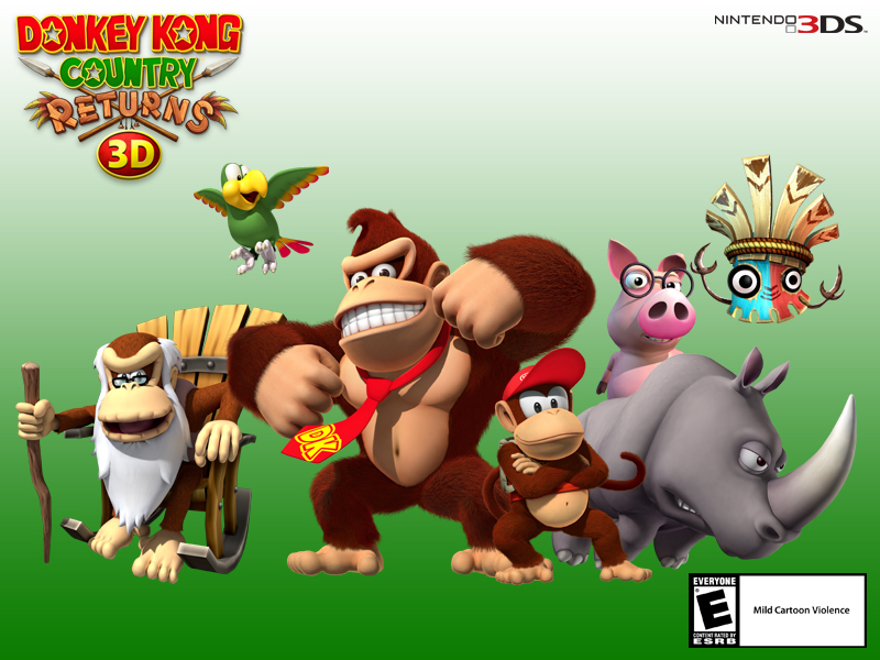 Wallpapers Donkey Kong Country Returns 3d For Nintendo 3ds